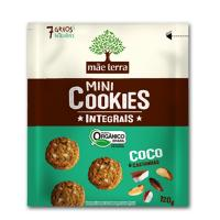 MINI COOKIE ORGÂNICO COCO E CASTANHA DO PARÁ INTEGRAL 120G