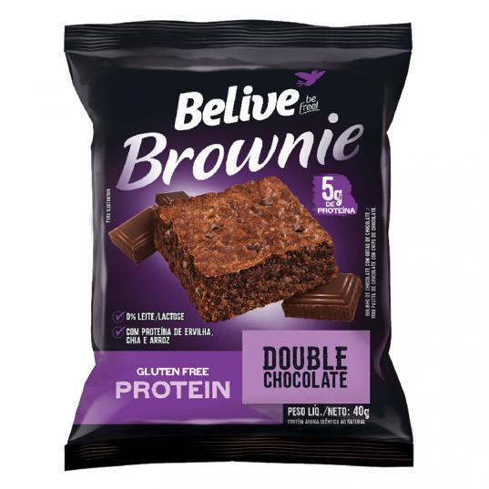 BROWNIE DOUBLE CHOCOLATE PROTEIN ZERO LACTOSE/GLÚTEN 40G